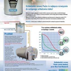 schładzanie mleka schładzalnikiem rurowym Packo