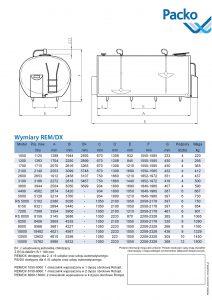 wymiary schładzalnika do mleka REM/DX